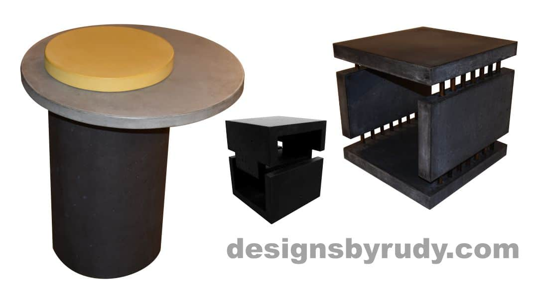 Concrete Side Tables by Designs by Rudy