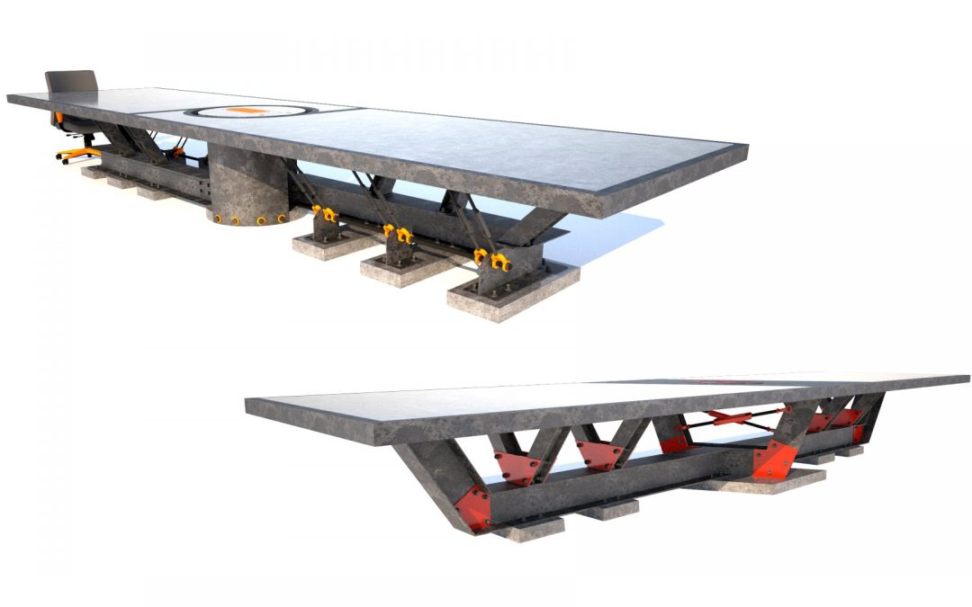 Custom Conference Room Tables   Concrete, Steel, Wood