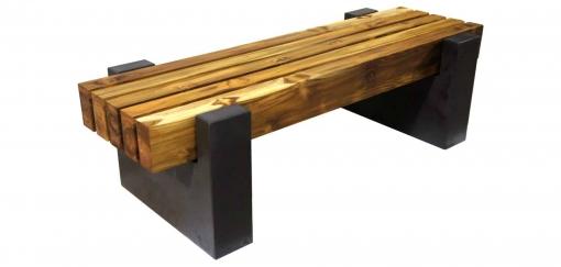 DRCB4 concrete bench with teak top thumbnail