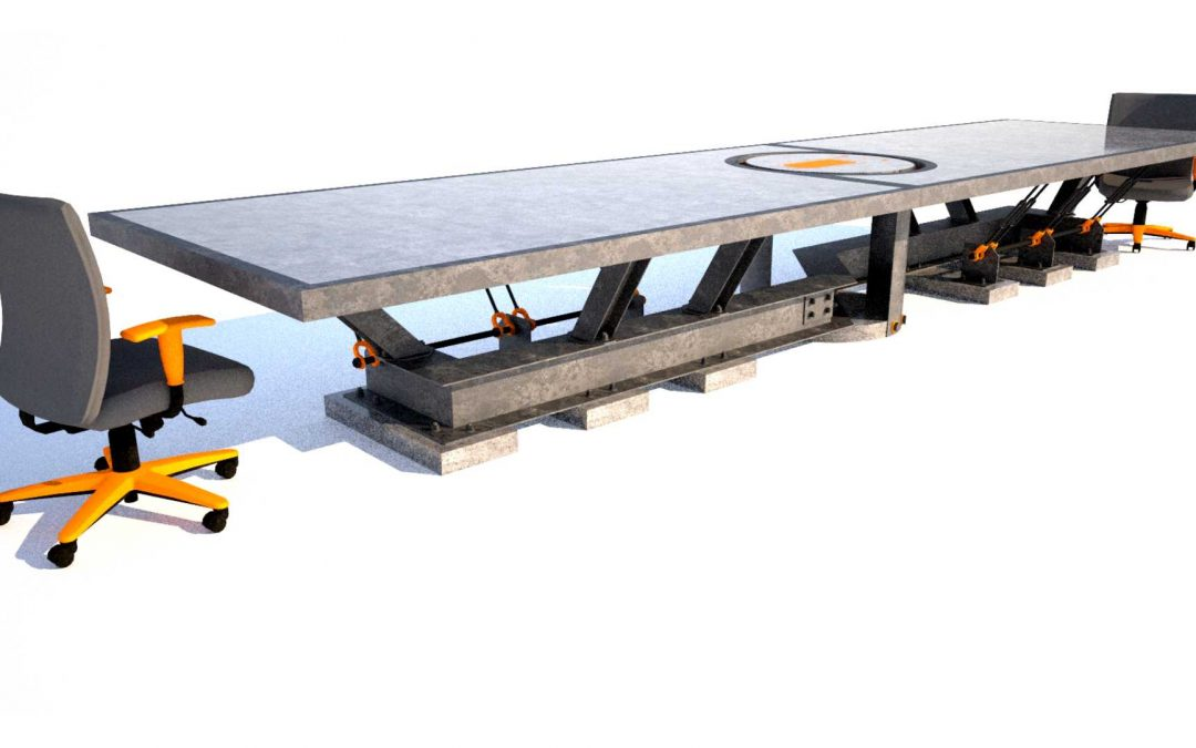 Steel and Concrete Boardroom Table by Designs by Rudy