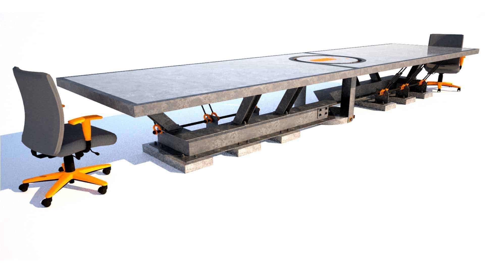 Steel and concrete conference room table, Designs by Rudy, thumbnail