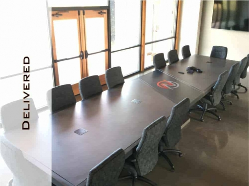 Steel, Concrete Conference Table Design and Fabrication by Designs by Rudy for Northbank Civil & Marine