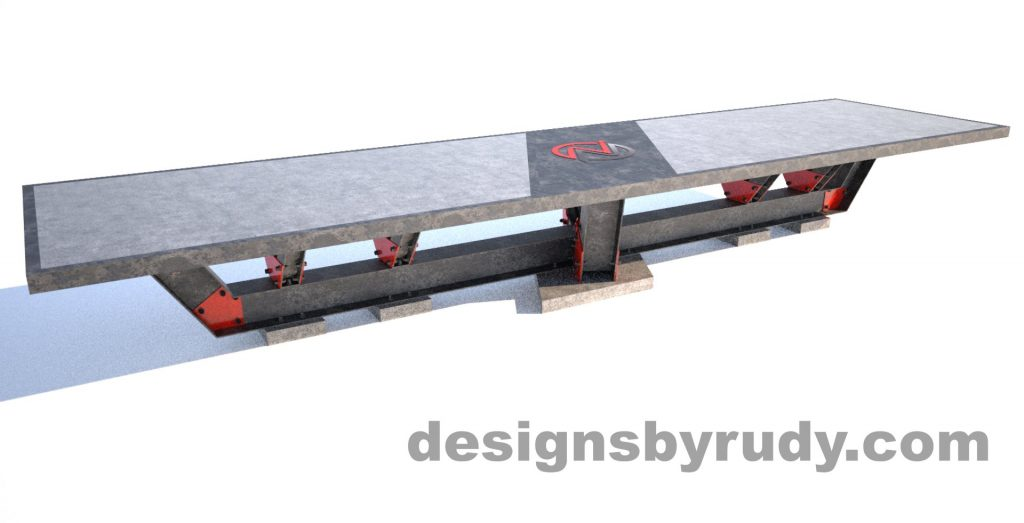 Steel base concrete top conference table design and fabrication by Designs by Rudy (1)