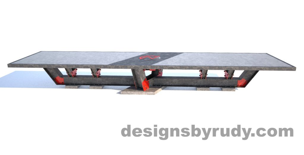 Steel base concrete top conference table design and fabrication by Designs by Rudy (2)
