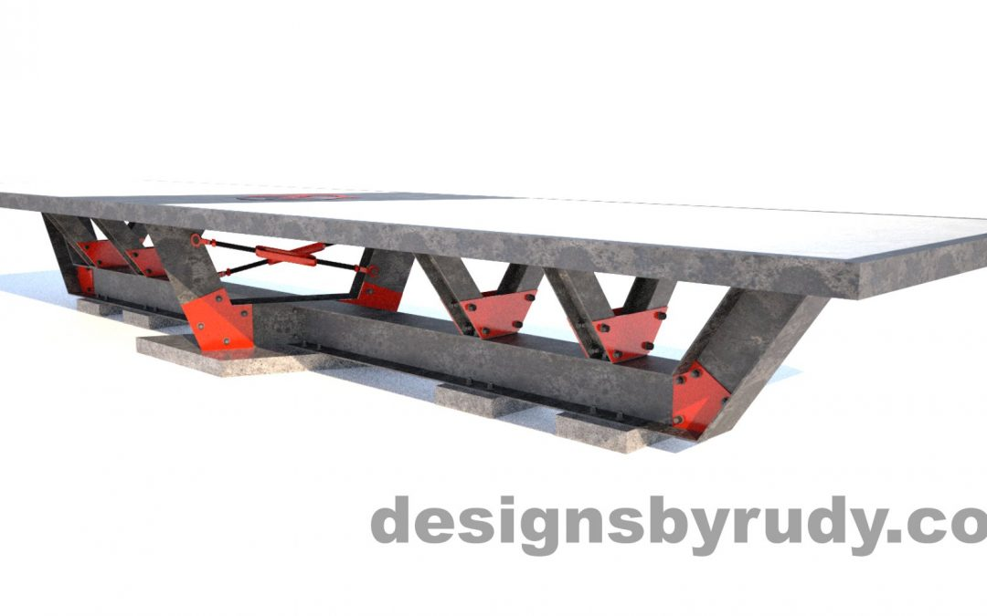 Concrete Conference Table Design and Fabrication