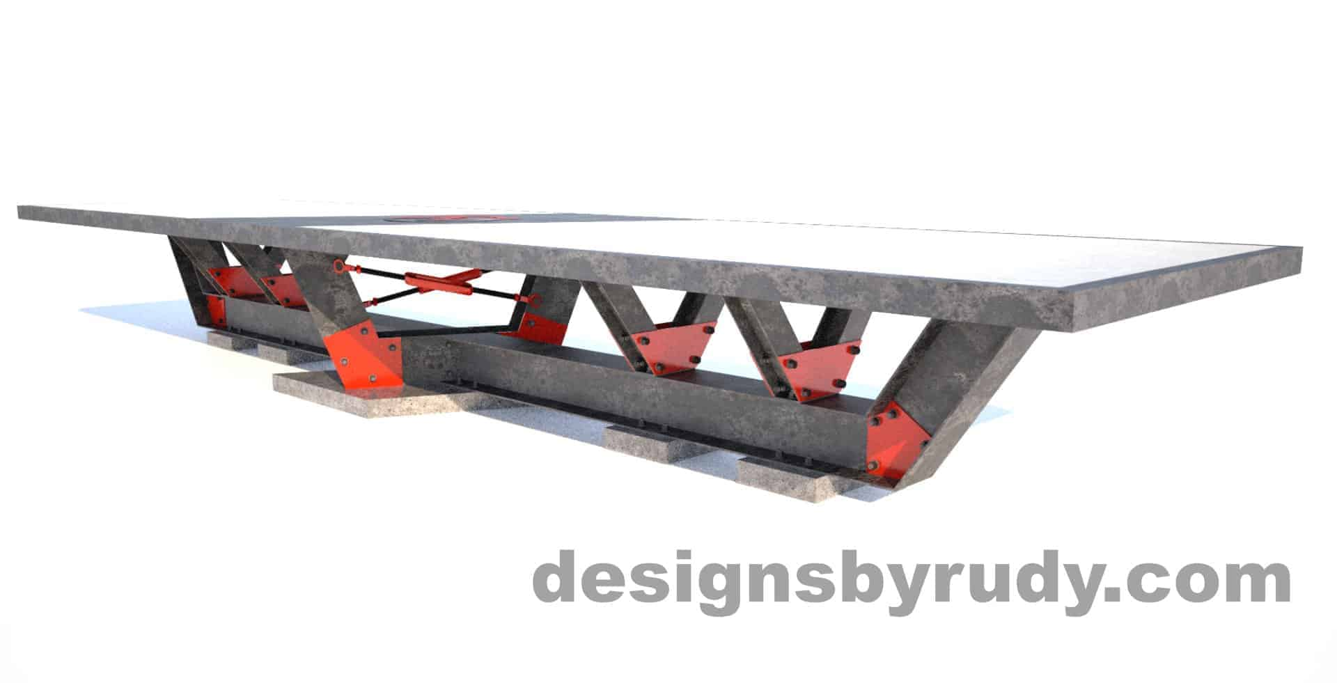 Steel base concrete top conference table design and fabrication by Designs by Rudy (3)