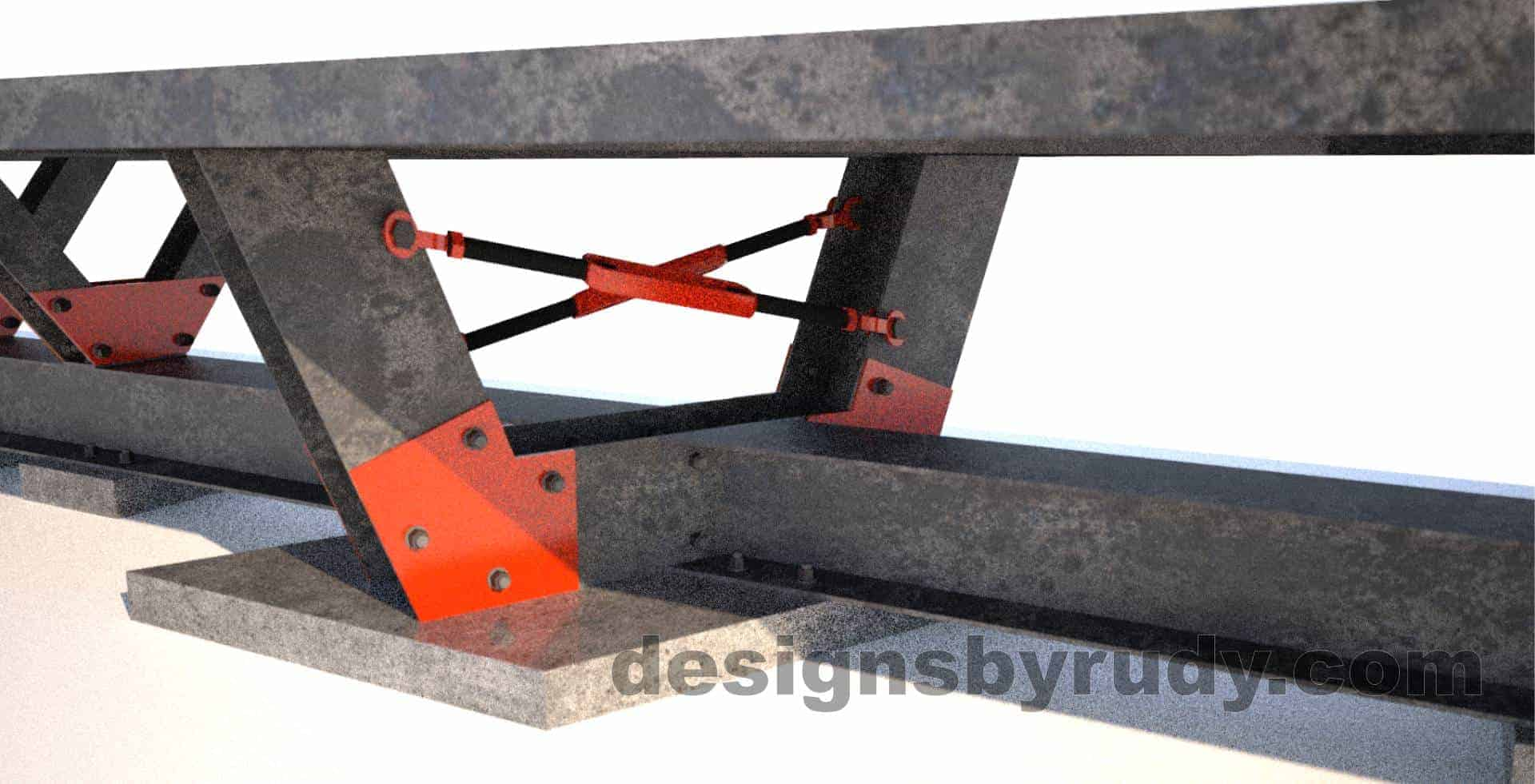 Steel base concrete top conference table design and fabrication by Designs by Rudy (4)