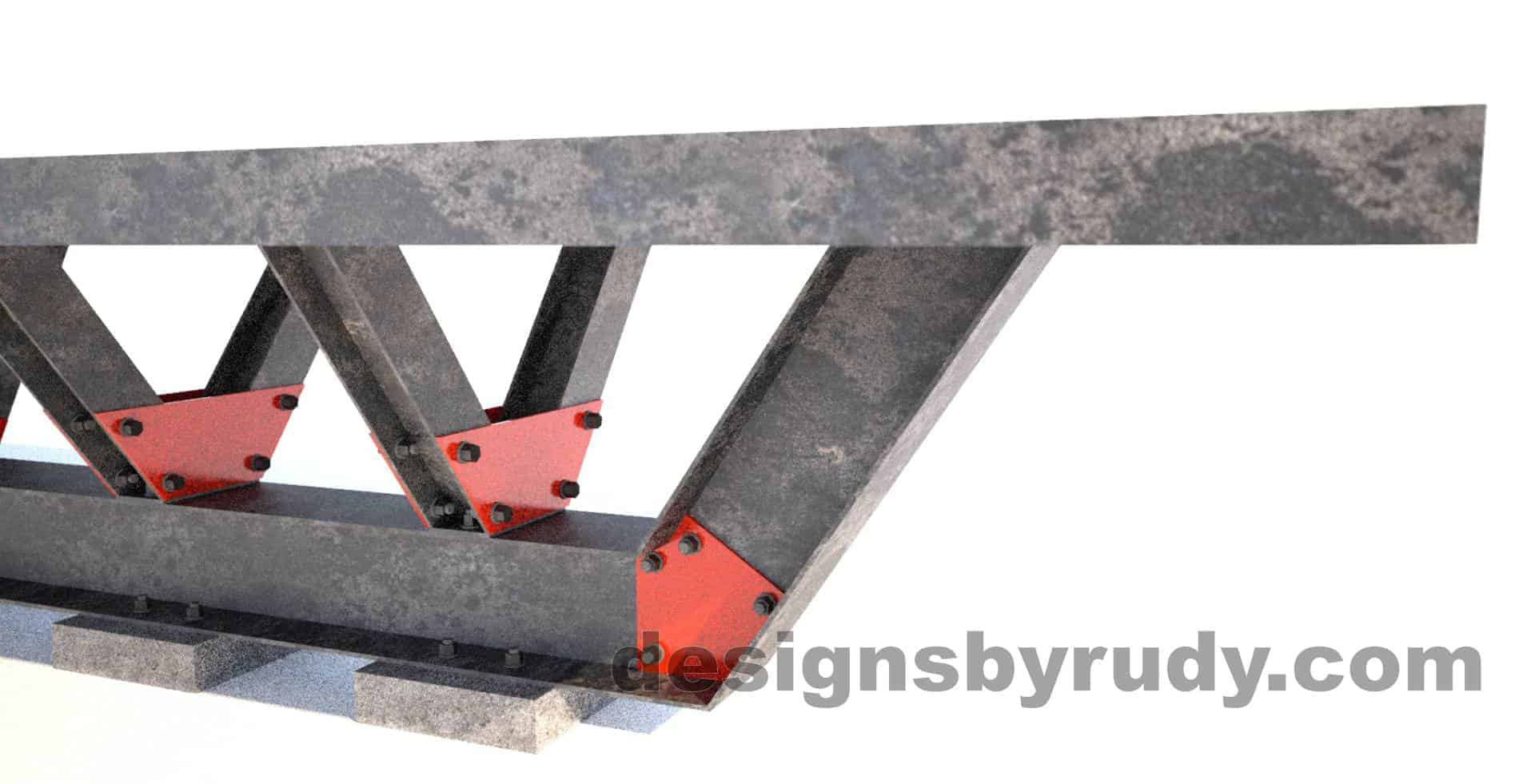 Steel base concrete top conference table design and fabrication by Designs by Rudy (6)