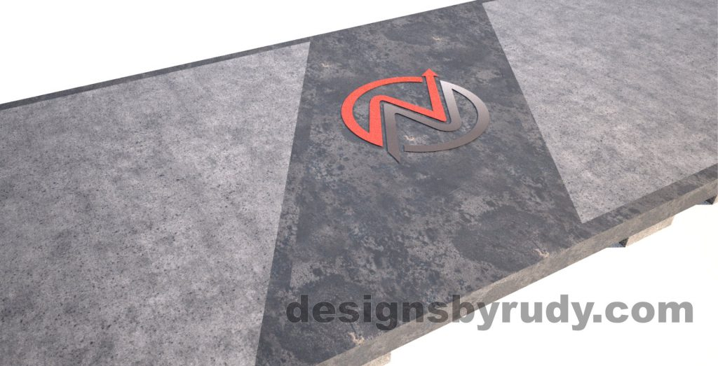 Steel base concrete top conference table design and fabrication by Designs by Rudy (7)