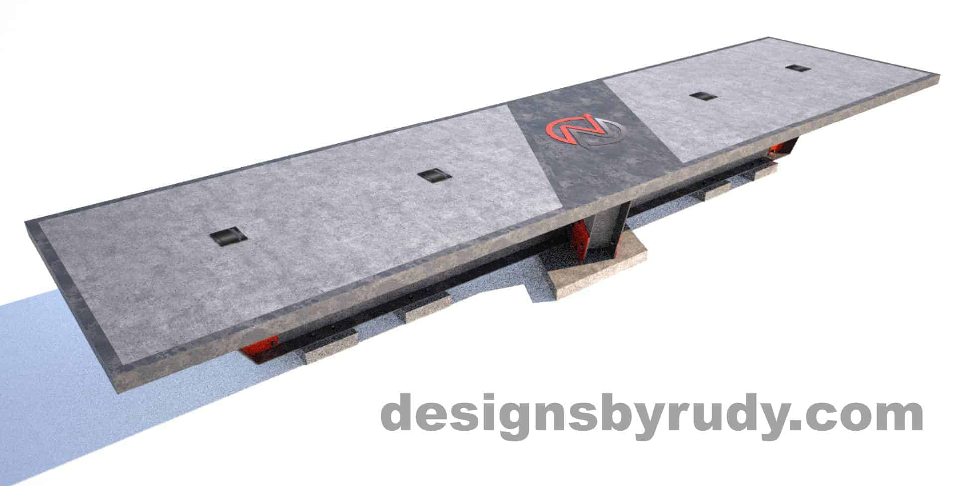 Steel base concrete top conference table design and fabrication by Designs by Rudy (9)