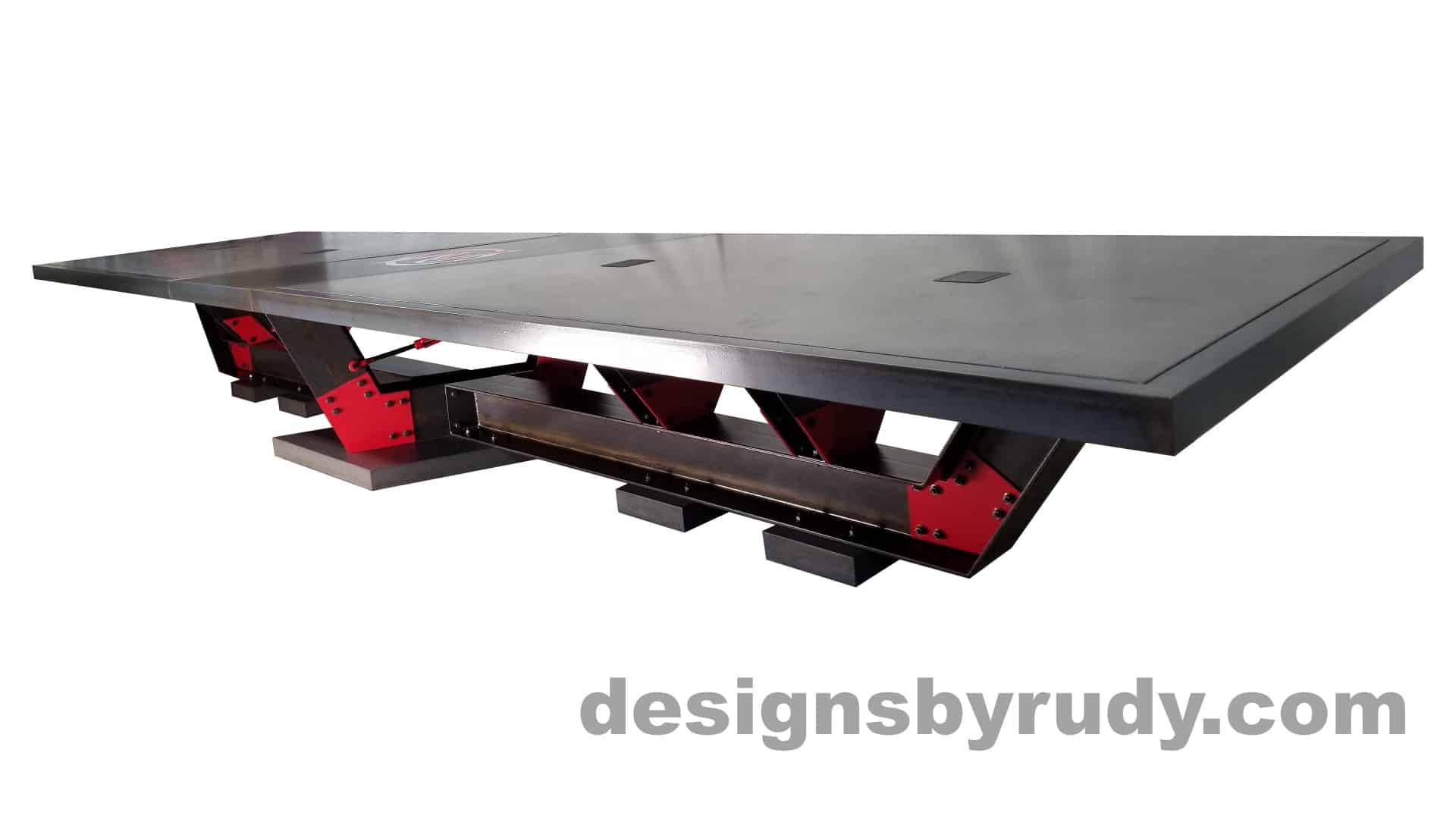 2 Steel and concrete conference table, design and fabrication by Designs by Rudy , angle 1 view