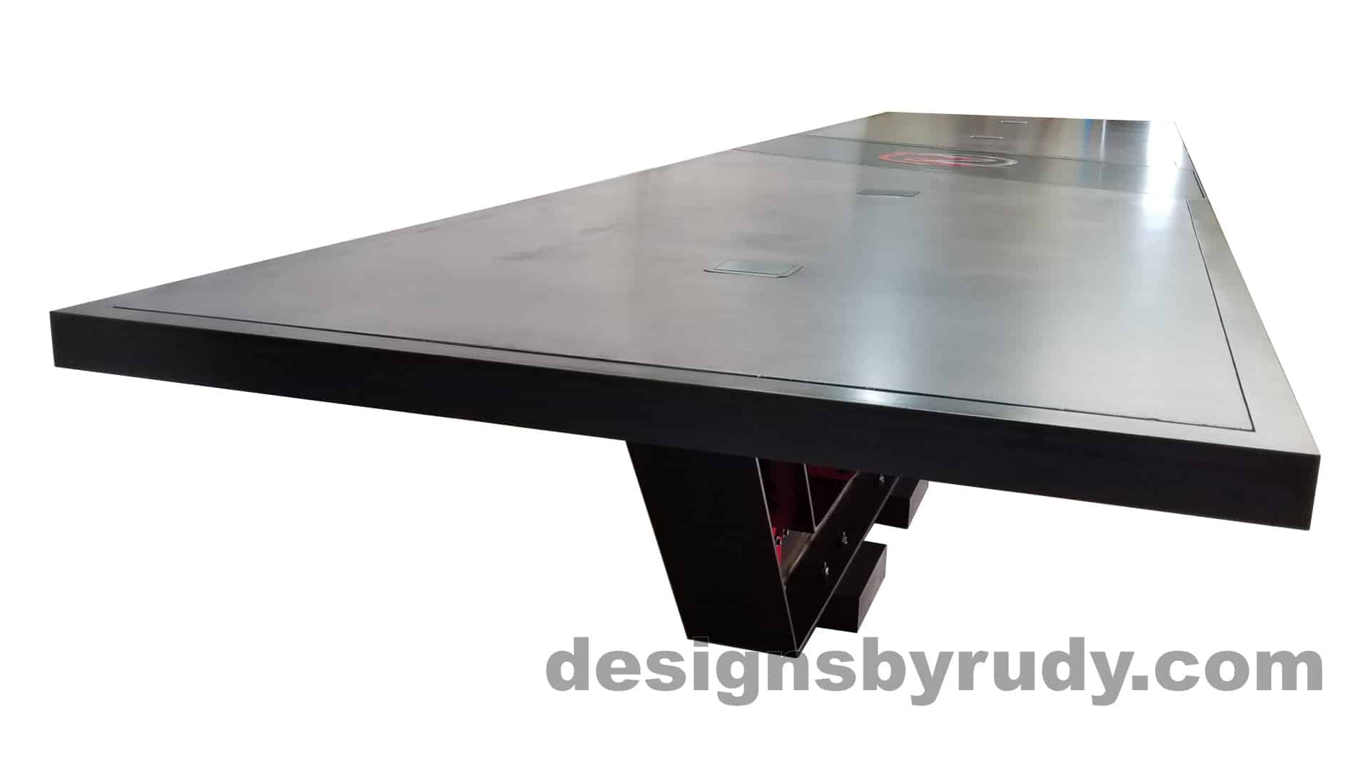 6 Steel and concrete conference table, design and fabrication by Designs by Rudy, long view