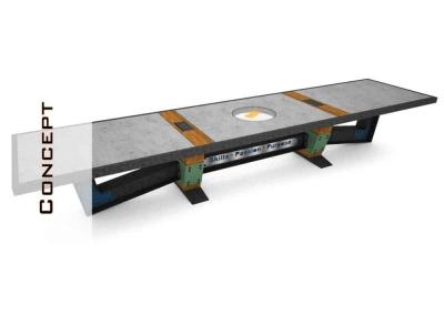 Concrete Conference Table Concept