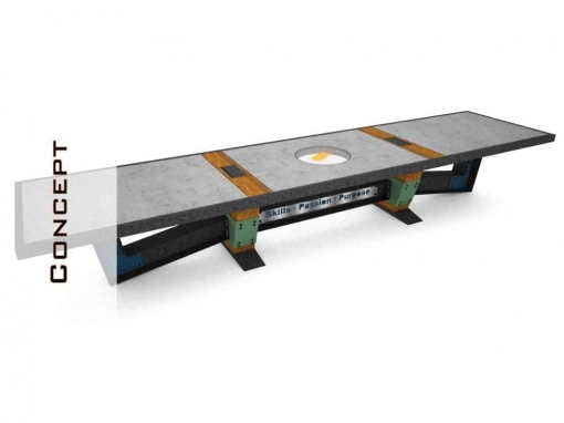Concrete Conference Table Concept