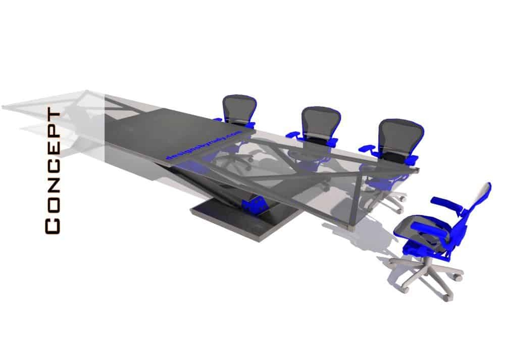 Concrete Conference Room Table Archive Concrete Furniture Design - Glass top conference room table