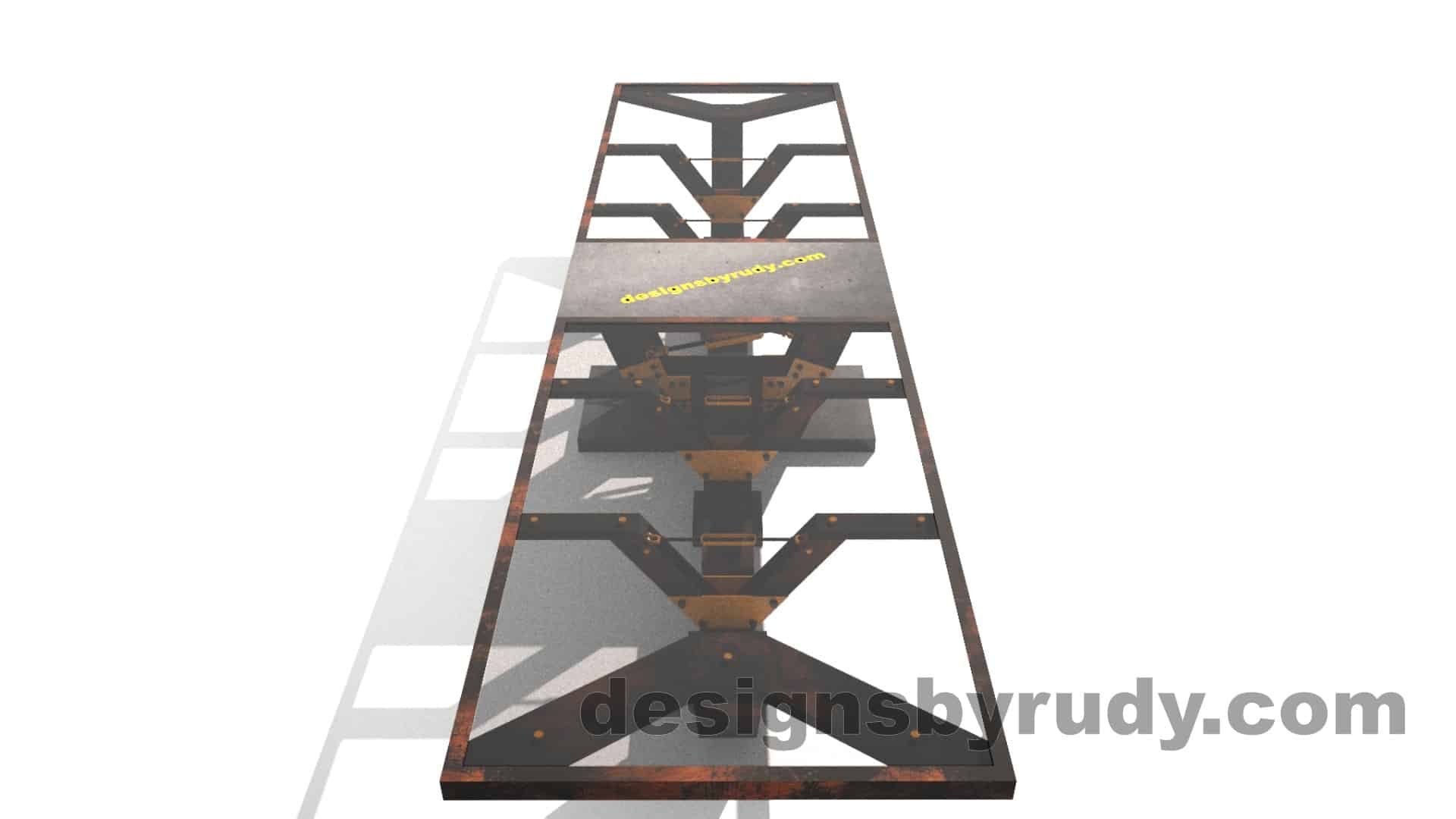Glass, steel, concrete conference table design by Designs by Rudy 10