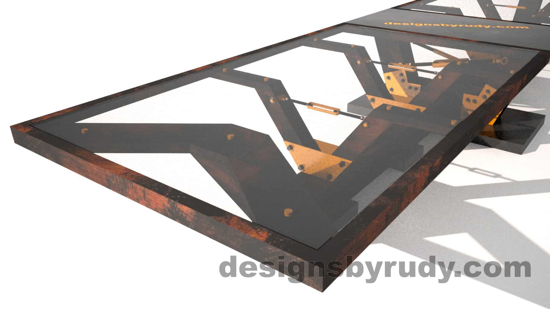 Glass, steel, concrete conference table design by Designs by Rudy 3