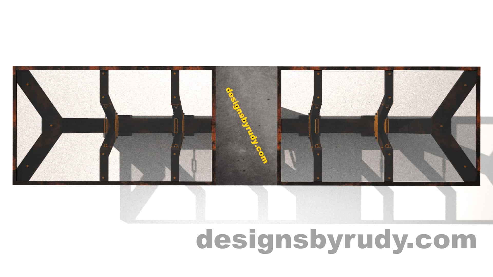 Glass, steel, concrete conference table design by Designs by Rudy 7